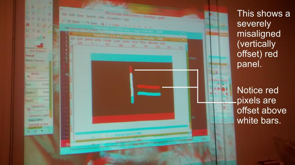 projector adjusting convergence